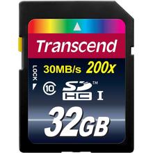 Карта памяти TRANSCEND SDHC 32 GB CLASS 10 (TS32GSDHC10)