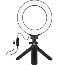 """Кольцевая LED лампа PULUZ USB 6.2"""" + настольный штатив (PKT3059B)"""