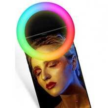 Селфи кольцо XOKO BS-007U White RGB LED 9см (BS-007U-WHT)