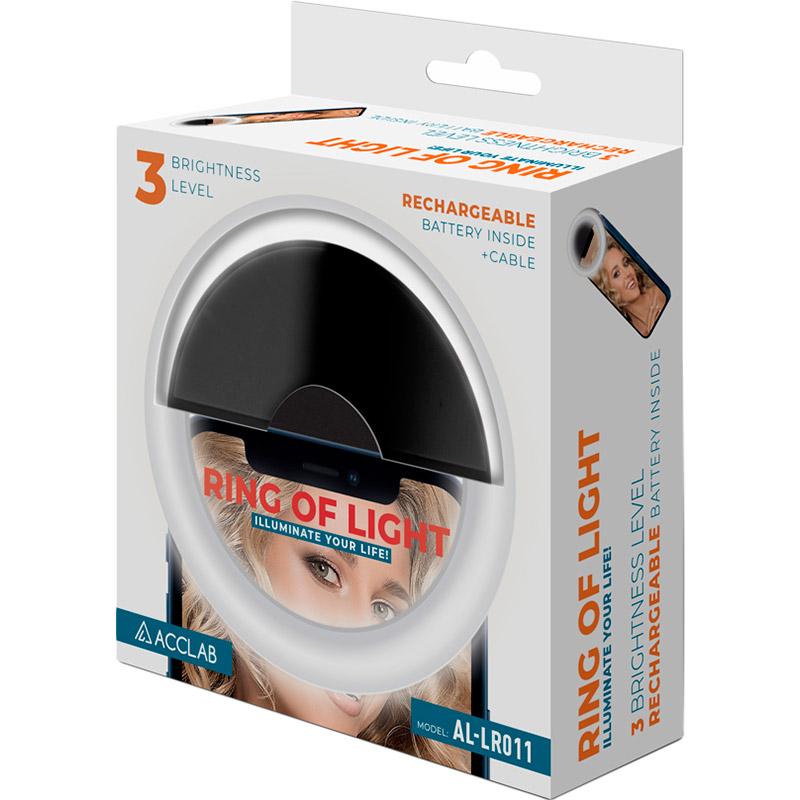 Лампа блогера ACCLAB AL-LR011 (1283126510021) Дополнительные особенности Вид: Кольцевой свет: Dual Pixel CMOS AF; Время перезарядки: 1800 с; Цветовая температура 3000-5600 К; Защита от перегрева; Количество диодов: 28; Тип питания: Micro-USB; Продолжительность работы на максимальной яркости: 45 минут; Литиевая батарея: 250 мАч