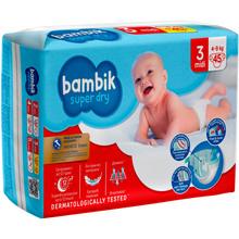 Подгузники BAMBIK Jumbo 3 MIDI 4-9 кг 45 шт (4823071645743)