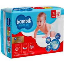 Подгузники BAMBIK Jumbo 4 MAX 7-18 кг 45 шт (4823071645736)