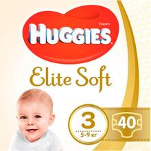 Подгузники HUGGIES Elite Soft 3 5-9 кг Jumbo 40 шт (5029053547770)