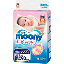 Подгузники MOONY NB 0-5 кг 90 шт (4903111243501)