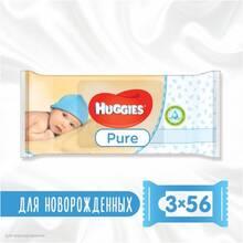 Салфетки влажные HUGGIES Ultra Comfort Pure 2+1 (56 х 3 шт) (5029053550091)