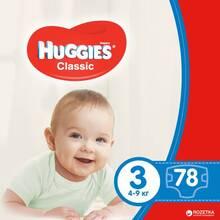 Подгузники HUGGIES Classic 3 Mega 78 (5029053543116)