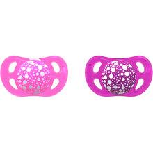 Пустышка TWISTSHAKE  ортодонтическая 0-6 мес 2 шт Pink/Violet (24913)