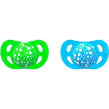 Пустышка TWISTSHAKE ортодонтическая 0-6 мес 2 шт Blue/Green (24914)