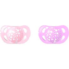 Пустышка TWISTSHAKE ортодонтическая 0-6 мес 2 шт Pink/Purple (69901)