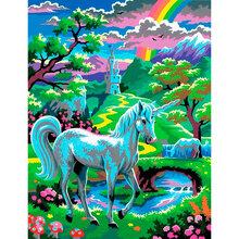 Набор для творчества Sequin Art PAINTING BY NUMBERS JUNIOR Unicorn (SA0124)