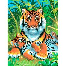 Набор для творчества Sequin Art PAINTING BY NUMBERS JUNIOR Tigers (SA0029)