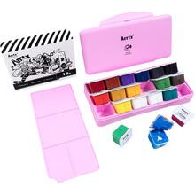 Гуашь Arrtx AJG-001-18D 18 цветов по 30 мл Розовая коробка (LC302307)