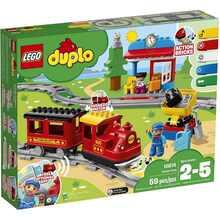 Конструктор LEGO DUPLO Town Поїзд на паровій тязі 59 деталей (10874)