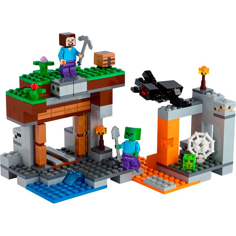 Конструктор LEGO Minecraft Заброшенная шахта 248 деталей (21166) Тип классический