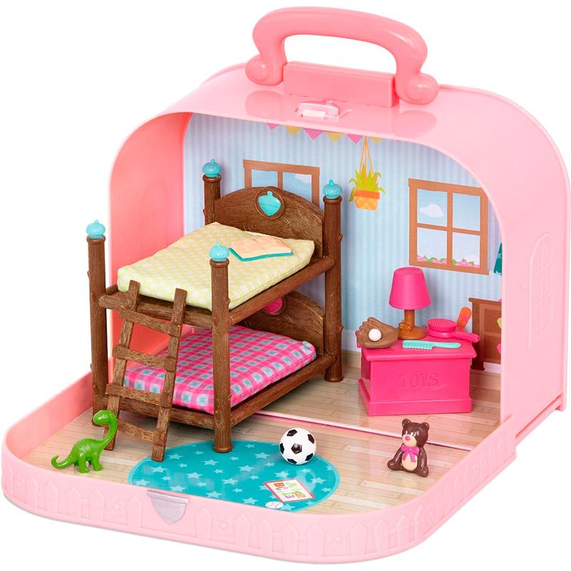 Игровой набор LI'L WOODZEEZ Кейс розовый с аксессуарами (WZ6597Z)