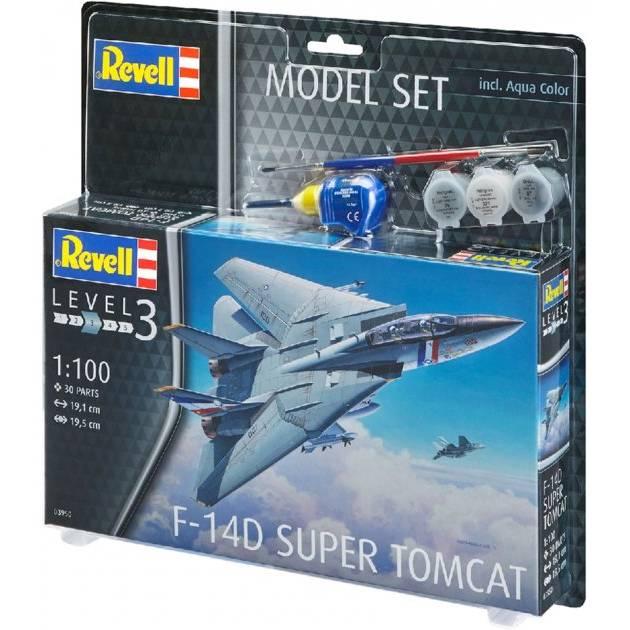 Сборная модель REVELL Истребитель F-14D «Томкет» «Томкэт» Масштаб 1:100 (RVL-63950)