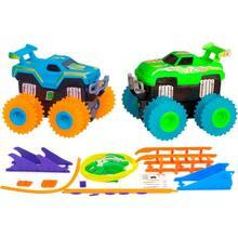 Набор машинок Trix Trux 2 машинки AS332 синяя и зеленая (JLT-AS332BG)