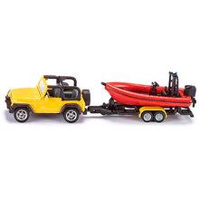 Автомодель SIKU Jeep Wrangler з човном (одна тисяча шістсот п'ятьдесят вісім)