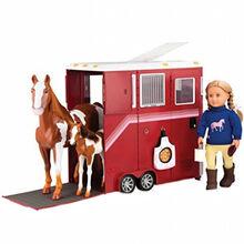 Транспорт для ляльок OUR GENERATION Трейлер для коня (BD37391Z)