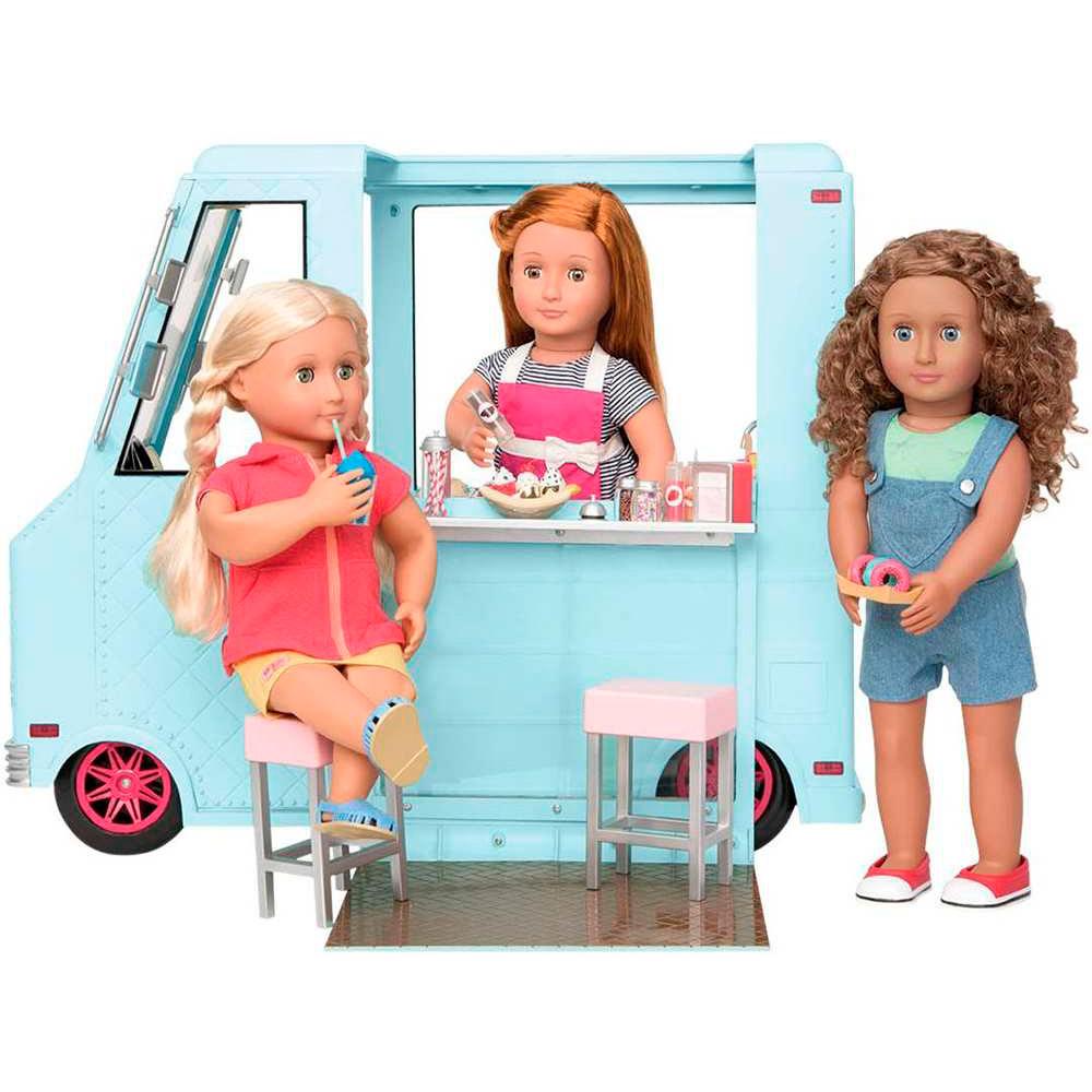 Набор аксессуаров для куклы Our Generation Фургончик с мороженым и аксессуарами (BD37252Z) Тип аксессуары для кукол и пупсов