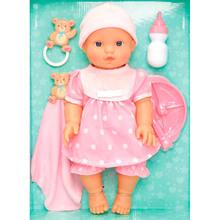 Пупс LOTUS ONDA вініловий 36 см з аксесуарами Pink (14032)