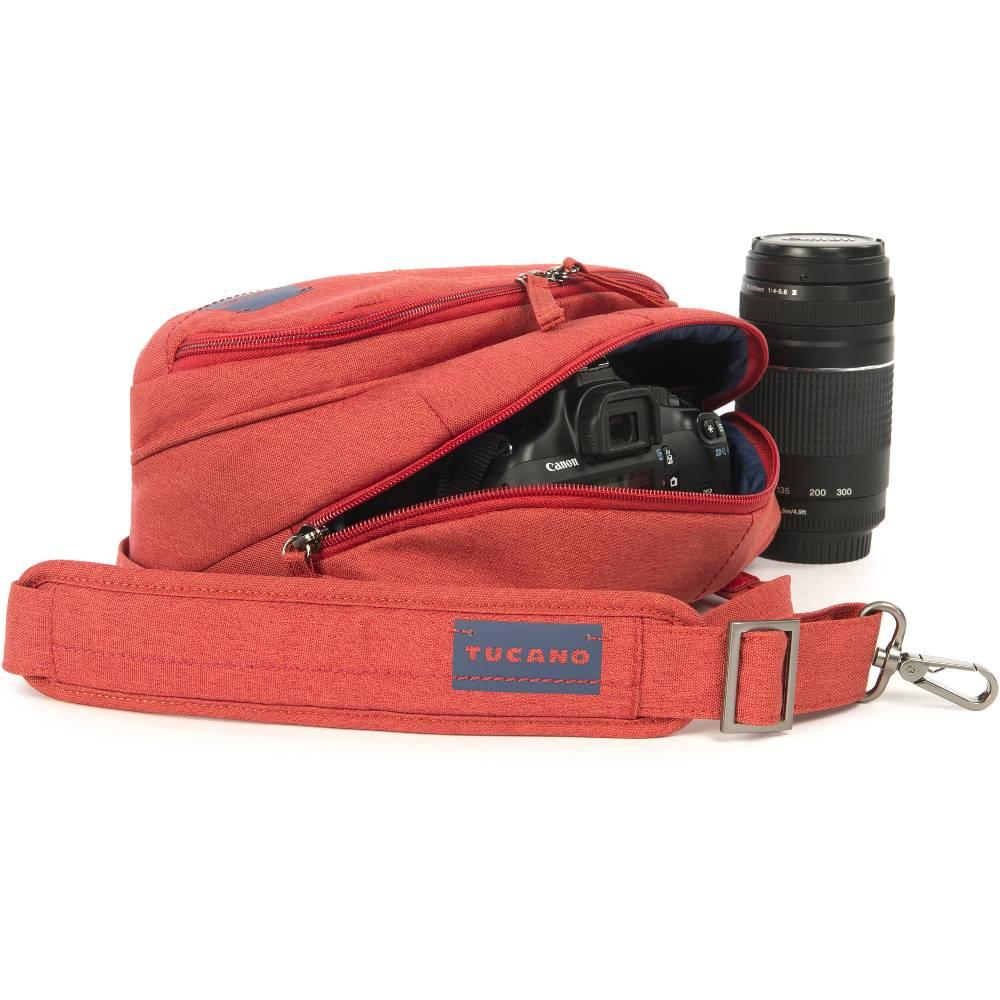 Сумка для фотоаппарата TUCANO Contatto Digital Bag Medium Red (CBC-M-R) Назначение для зеркальных фотоаппаратов