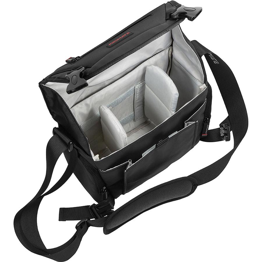 Сумка для фототехники PROMATE Arco-M Black Внутренний размер 200 х 170 х 90 мм