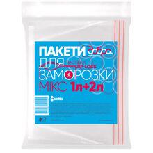 Пакеты для заморозки ДОБРА ГОСПОДАРОЧКА Микс 1 л+2 л 3 шт (4820086521505)