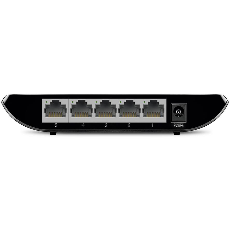 Неуправляемый коммутатор TP-LINK TL-SG1005D Порты коммутатора 5 портов 10/100/1000 Мбит/с (разъём RJ45) с поддержкой автосогласования и авто-MDI/MDIX
