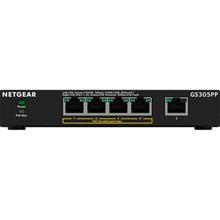 Комутатор NETGEAR GS305PP 4xGE PoE +, 1x GE (GS305PP-100PES)