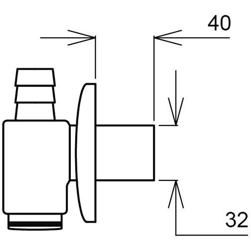 Сифон GHIDINI 32SpA (422) Назначение для стиральных и посудомоечных машин
