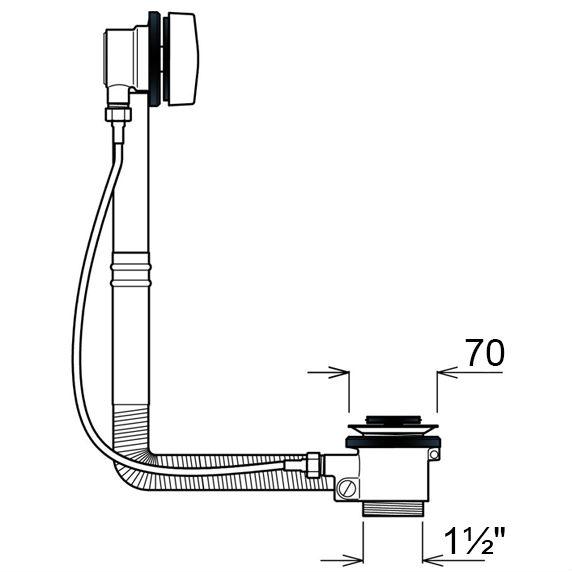 Сифон GHIDINI 40SpA (771C) Назначение для ванн