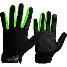 Рукавички для фітнесу PowerPlay Hit Full Finger Black/Green XL (Hit_XL_Black)