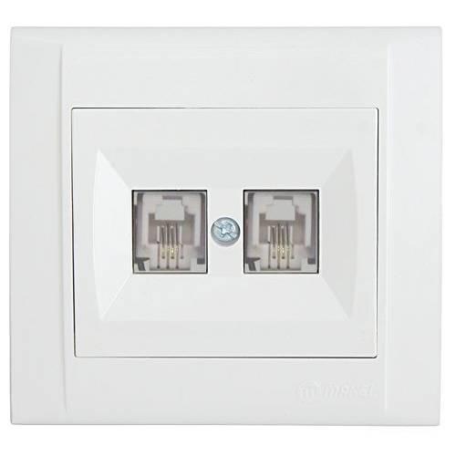 Розетка MAKEL TF евро двойная  (42001034)