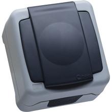 Розетка MAKEL с заземлением и крышкой (36064029)