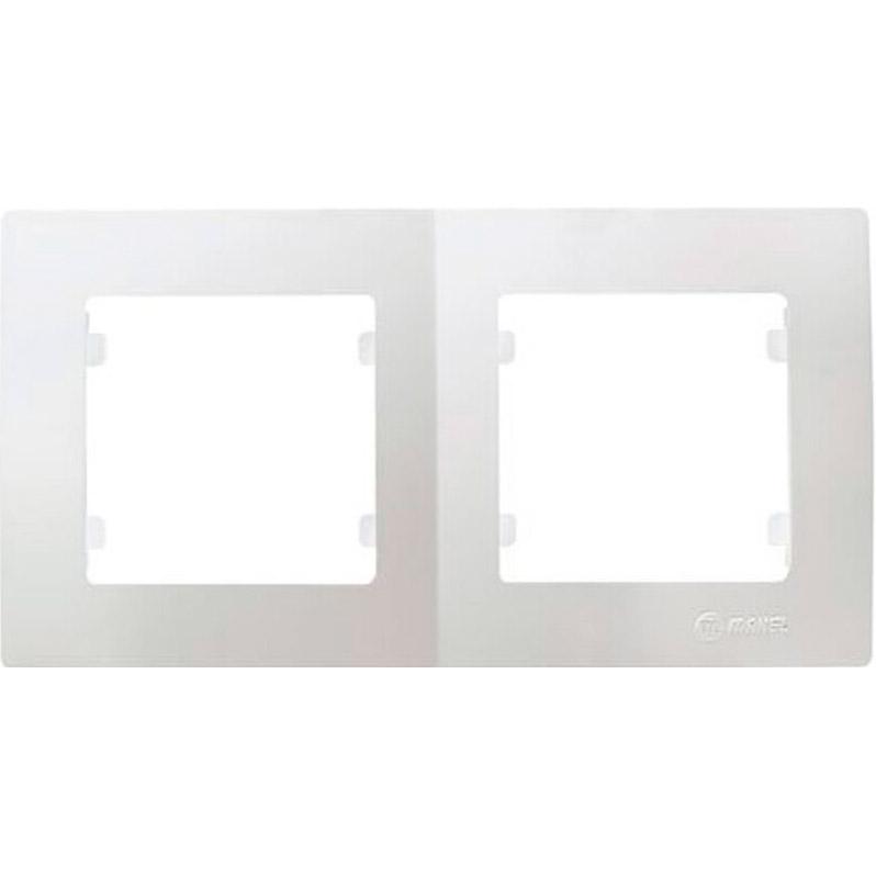 Рамка двойная MAKEL Lilium Natural Kare горизонтальная White (32001702)