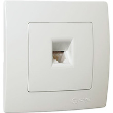 Розетка телефонна MAKEL Lillium Natural Kare TF євро White (32001014)