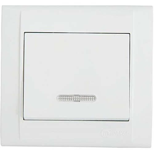 Выключатель 1-клавишный MAKEL с подсветкой (42001021)