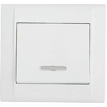 Выключатель 1-клавишный с подсветкой MAKEL (42001040)