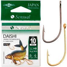 Набор крючков Mikado Sensual Daishi №10 Black Nickel 10 шт (HS013-10B)