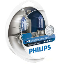 Галогенная лампа PHILIPS H3 Diamond Vision 5000K 2 шт/блистер (12336DVS2)