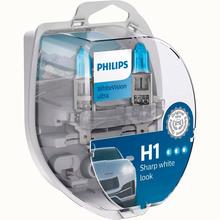 Автомобильная лампа PHILIPS H1 WhiteVision Ultra 3700K 2 шт (12258WVUSM)