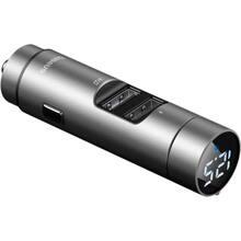 FM-трансмиттер BASEUS Energy Column 3.1A 2 USB silver (29246silver)