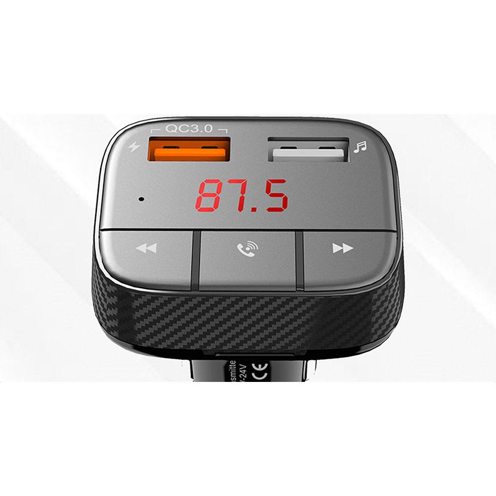 FM трансмиттер Promate SmarTune-2+ Black (smartune-2+.black) Защита от короткого замыкания False