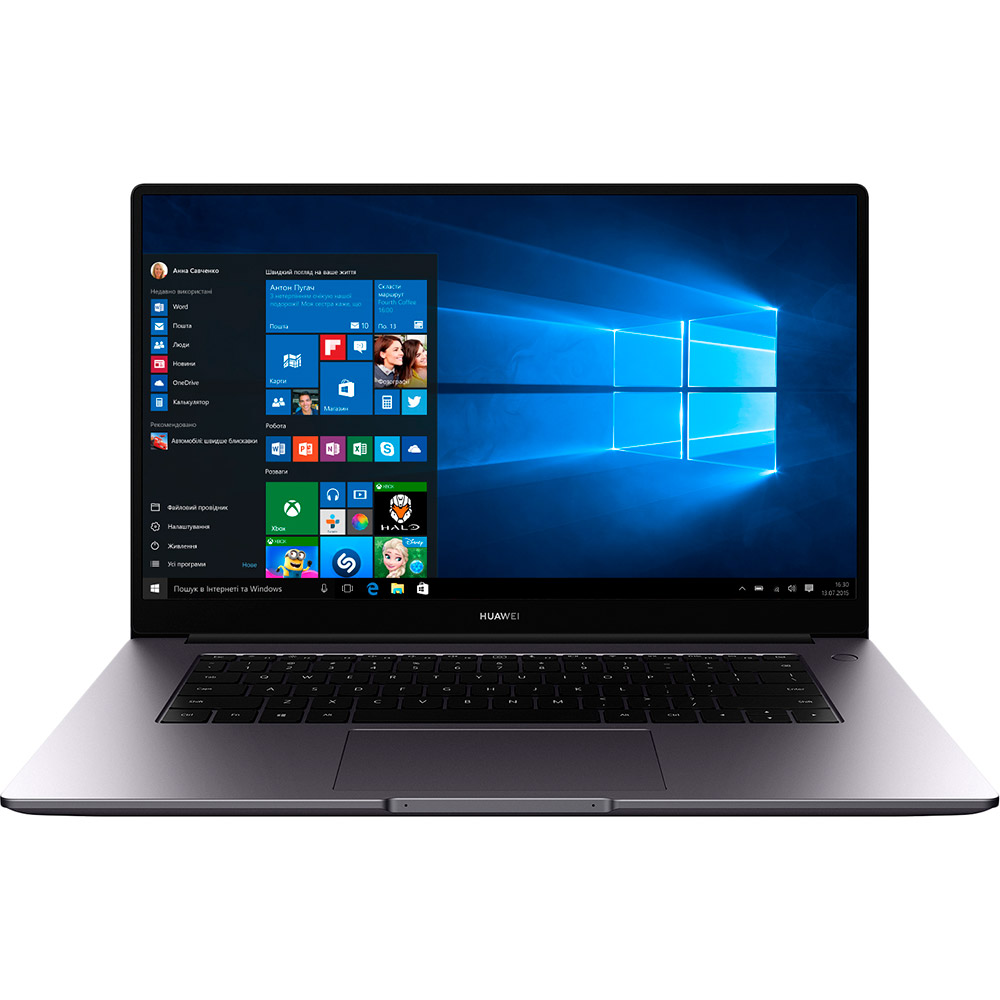 Ноутбук HUAWEI MateBook D15 Space Gray (53011UWY)
