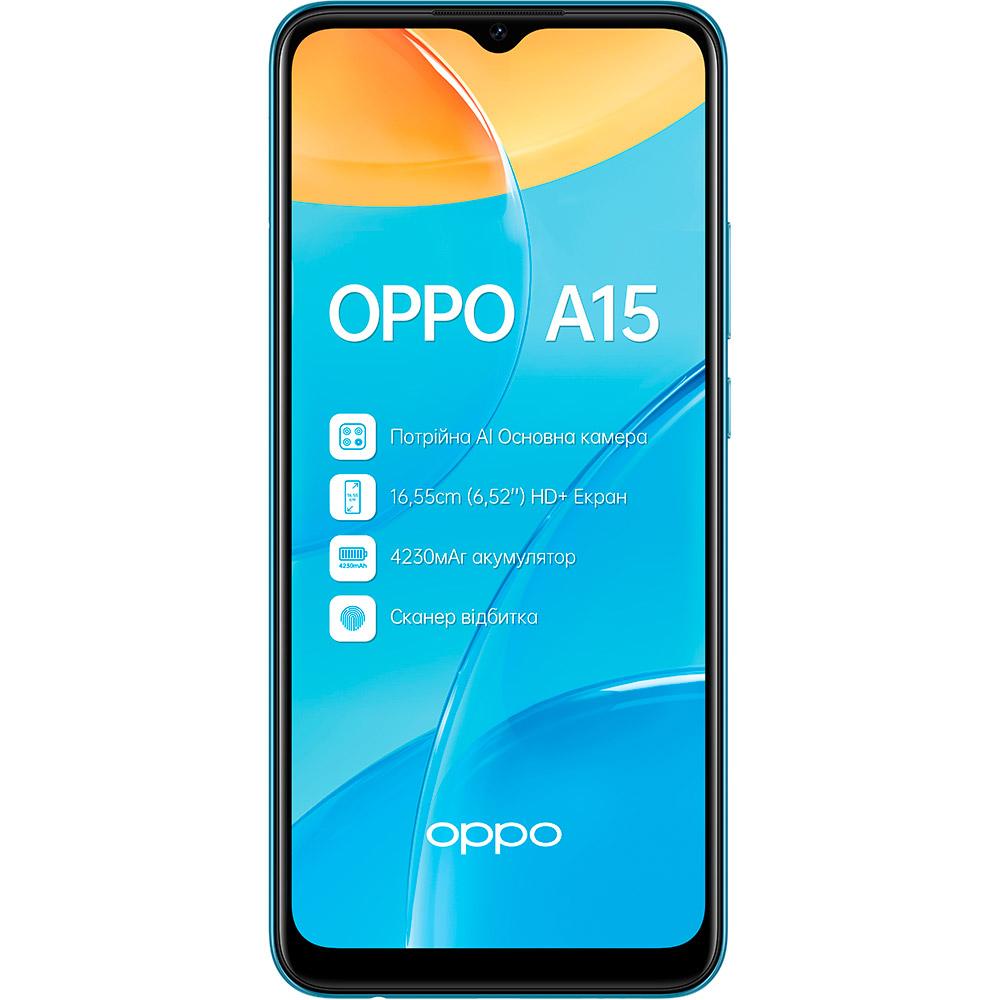 Смартфон OPPO A15 2/32 Gb Dual Sim Mystery Blue Встроенная память, Гб 32