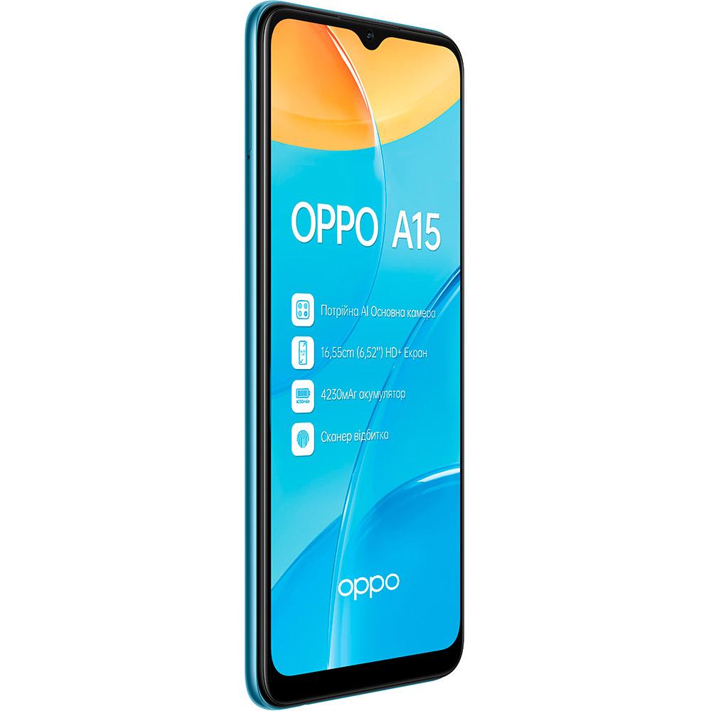 Смартфон OPPO A15 2/32 Gb Dual Sim Mystery Blue Диагональ дисплея 6.52