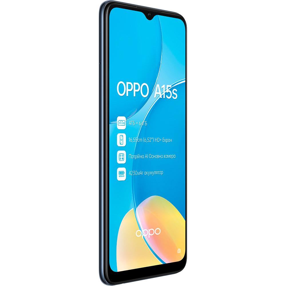Смартфон OPPO A15s 4/64 Gb Dual Sim Dynamic Black Диагональ дисплея 6.52