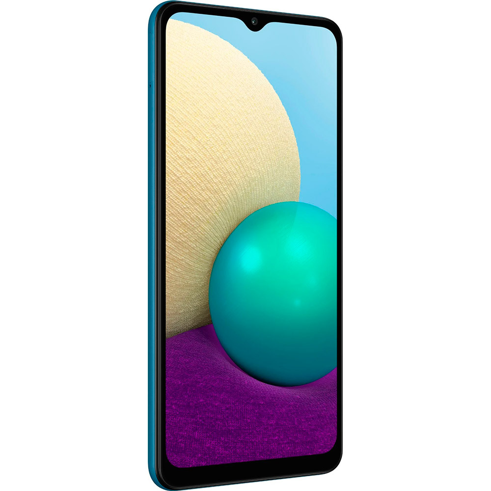 Смартфон SAMSUNG Galaxy A02 2/32 Gb Dual Sim Blue (SM-A022GZBBSEK) Диагональ дисплея 6.5
