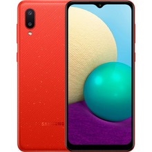Смартфон SAMSUNG Galaxy A02 2/32 Gb Dual Sim Red (SM-A022GZRBSEK)